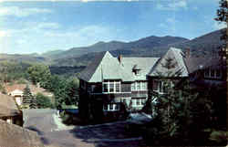 Medical Building And Mountain Range At Trudeau Sanitorium Postcard