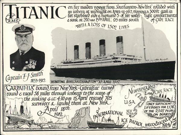 1982 70th Anniversary Sinking of the Titanic Boats, Ships