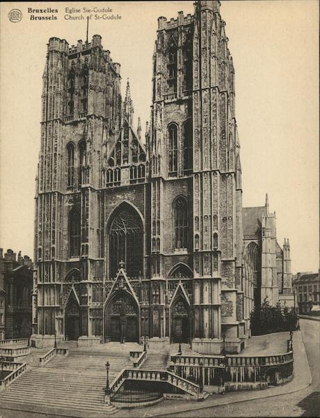 Church of St-Gudule Brussels Belgium Benelux Countries
