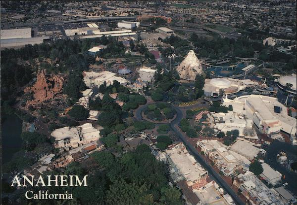 Aerial View of City and Disneyland Anaheim California
