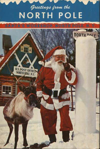 santa u0026 39 s workshop north pole  ny postcard