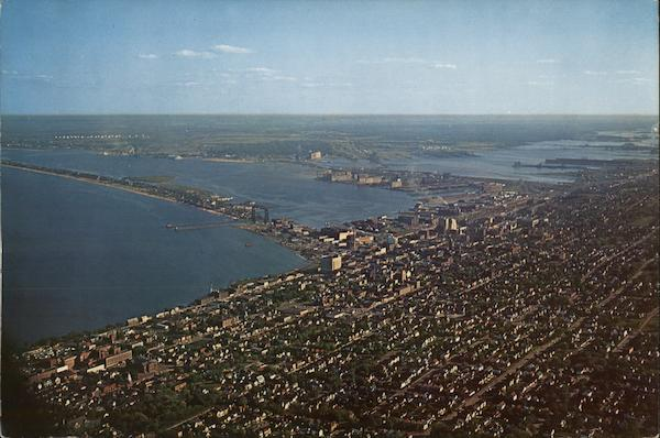 Aerial View of City Duluth Minnesota