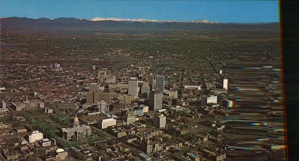 Aerial View of Downtown Denver Colorado
