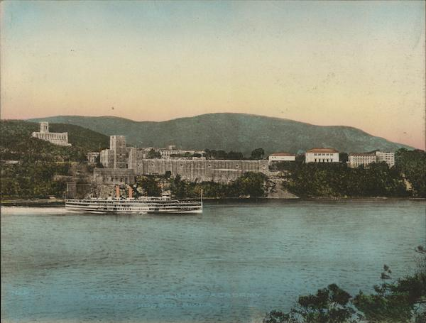 West Point Military Academy and Hudson River New York