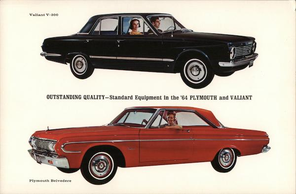Outstanding Quality - Standard Equiptment in '64 Plymouth and Valiant