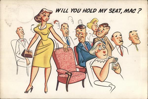 Will You Hold My Seat, Mac? Comic, Funny