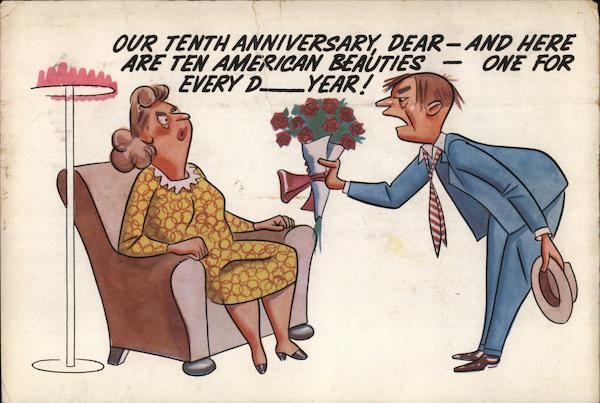 Our Tenth Anniversary Dear - Comic, Funny