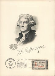 Drawing of Thomas Jefferson