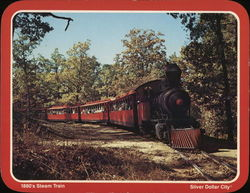 1880's Steam Engine Large Format Postcard