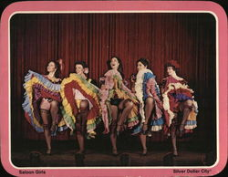 Saloon Girls - Silver Dollar City Large Format Postcard
