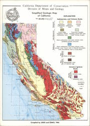 California Department of Conservation Division of Mines and Geology Map