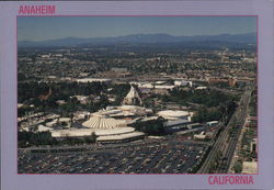 Aerial View of Anaheim and Disneyland