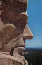President Lincoln's Face, Mt. Rushmore National Monument
