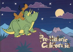 Mickey's Prehistoric California - Large Format Postcard