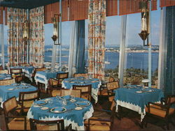 Columbus Hotel - Top O' The Columbus Restaurant Large Format Postcard