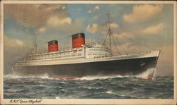 "Cunard Steamship Co.Ltd. - R.M.S. ""Queen Elizabeth"""