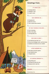 Yogi the Bear Fill in the Blank Camping
