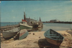 Provincetown Waterfront Scene Large Format Postcard