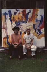 Photograph of Paul McCartney and Artist by Linda McCarney