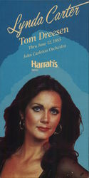 Lynda Carter at Harrah's Casino Large Format Postcard