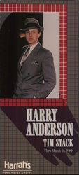 Harry Anderson and Tim Stack at Harrah's Large Format Postcard