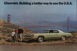 1972 Chevrolet Impala Custom Coupe at Golden Gate Bridge