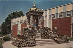 Holy Ghost Catholic Church - Shrine of the Sacred Heart Large Format Postcard