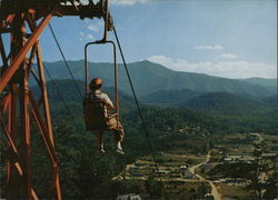 Mt. LeConte Chairlift Large Format Postcard