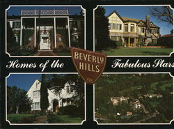 Homes of the Fabulous Stars Large Format Postcard