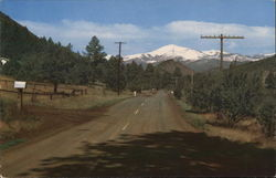 Sierra Blanca from Ruidoso Highway