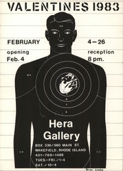 Valentines 1983, Hera Gallery - Male Silhouette with Heart Encircled