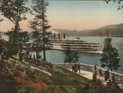 The Landing - Indian Point - Hudson River Large Format Postcard