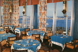 Top O' the Columbus Restaurant Large Format Postcard