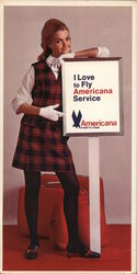I Love to Fly Americana Service Stewardess