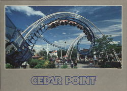 Cedar Point - Corkscrew Large Format Postcard