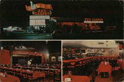 Red Carpet Steak House & Supper Club Large Format Postcard