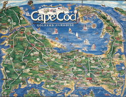 Cape Cod Pictorial Map