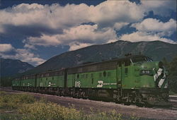 Burlington Northern F9 Large Format Postcard