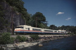 Amtrak - Hudson Highlander Large Format Postcard