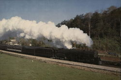 Norfolk & Western 1218 Large Format Postcard
