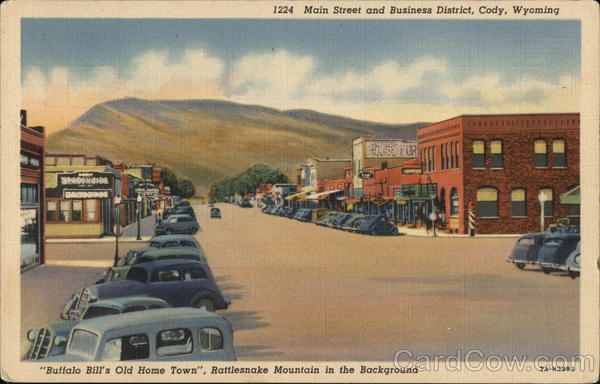 Main Street and Business District Cody Wyoming