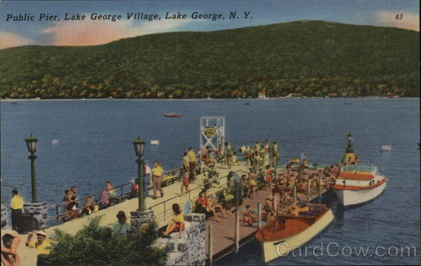 Public Pier, Lake George Village New York