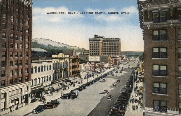 Washington Blvd., Looking South Ogden Utah