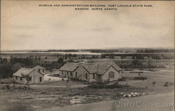 Musuem and Administration Building, Fort Lincoln State Park Mandan North Dakota