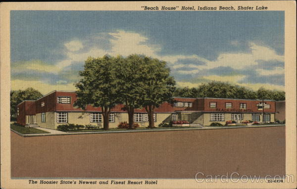 Beech House Hotel, Indiana Beach, Shafer Lake Monticello