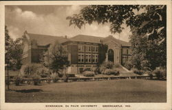 Gymnasium, De Pauw University Postcard