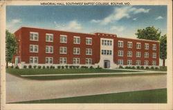 Memorial Hall, Southwest Baptist College