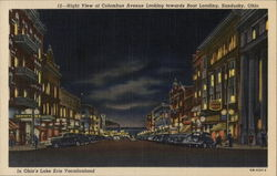 Night View of Columbus Avenue Looking towards Boat Landing