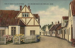 View of Danish Village between Old Orchard Beach and Portland, Maine