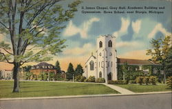 S. James Chapel, Gray Hall, Academic Building and Gymnasium, Howe School